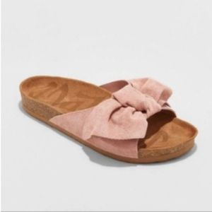 Mad love mauve pink bow sandals